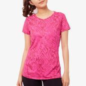 Áo thun thể thao nữ iBasic màu hồng IBX043