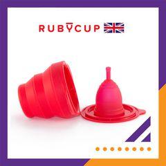 COMBO CỐC NGUYỆT SAN RUBY CUP VÀ CỐC TIỆT TRÙNG RUBY CLEAN (ĐỎ, size S hoặc size M)
