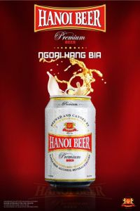 Thùng 24 lon Habeco Hà Nội beer Premium (Lon trắng)