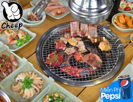 Cheep Eats - Buffet Hải Sản Nướng Lẩu Tuyệt Đỉnh - Free Pepsi Không Giới Hạn - Áp Dụng 02 Cơ Sở