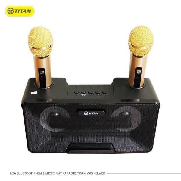 Loa kèm 2 micro karaoke TITAN - M05