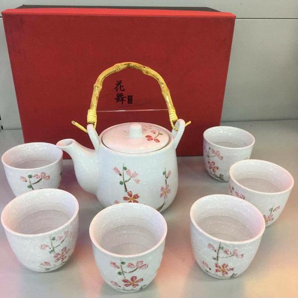Bộ bình và 6 tách trà sứ hoa cương Lock&lock SLH190S01