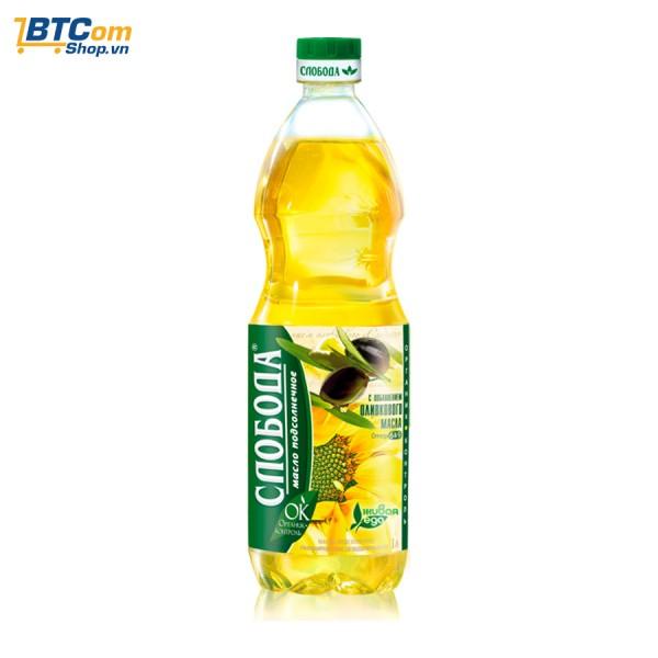 Dầu hướng dương Ôliu Organic Sloboda chai 1L