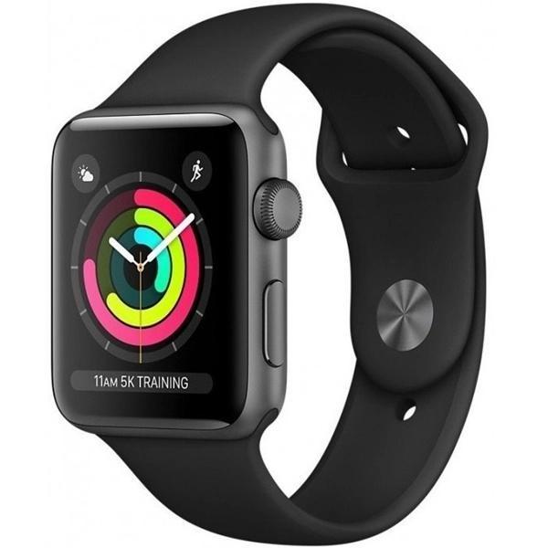 Apple Watch 3 42mm (GPS) Viền Nhôm Xám - Dây Đen Chính hãng (MTF32)