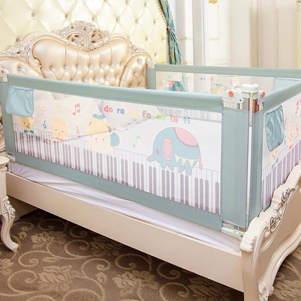 Thanh chắn giường mẫu 2019 cao cấp Babyqiner BQ-02 - 1M5 - Xanh trượt lên xuống Giá 1 thanh