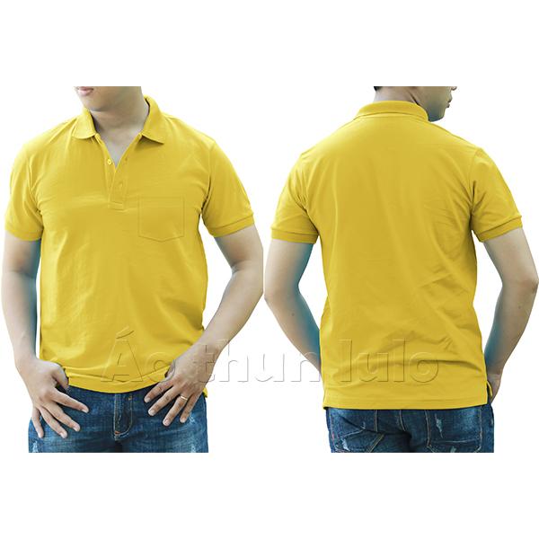 Áo thun cổ trụ có túi - Màu vàng chanh/ vàng cúc