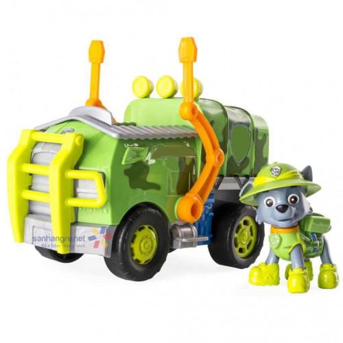Đồ chơi Paw Patrol xe cứu hộ và chó Rocky Jungle Truck