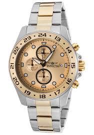 Đồng hồ nam Invicta 15207 Pro Diver Chronograph Two-Tone Bracelet Gold-Tone Dial