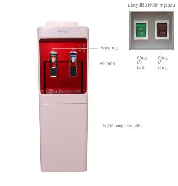 Cây nước nóng lạnh philiger PLG-3025 Công nghệ làm lạnh bằng BLOCK tặng bộ dao inox 3 món