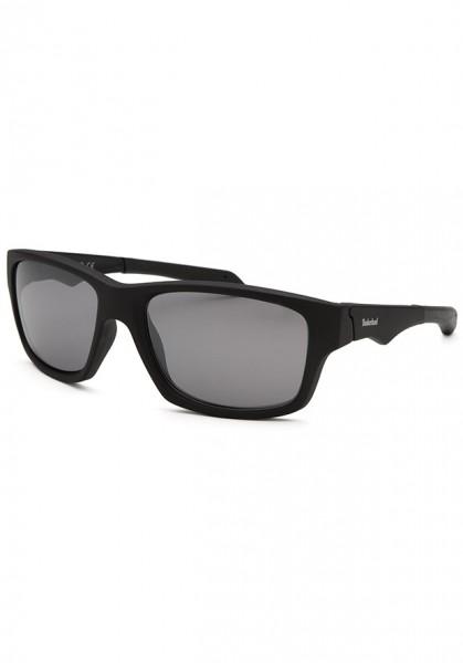 Kính mát nam Timberland TB7122-02C Square Black Sunglasses Semi-Reflective Lens