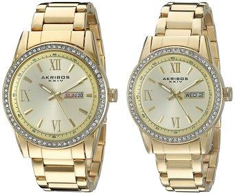 Đồng hồ đôi Akribos XXIV- AK888YG Analog Display Quartz