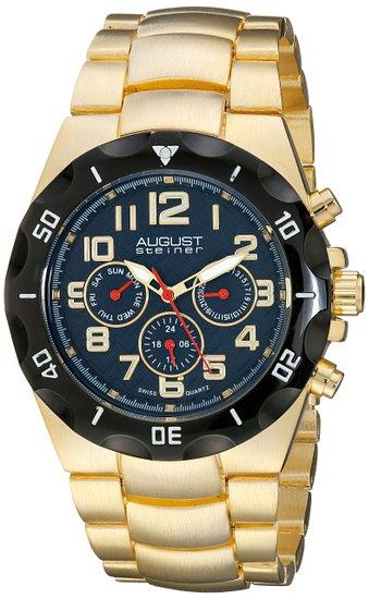 Đồng hồ nam August Steiner AS8161YGBU Analog Display Swiss Quartz