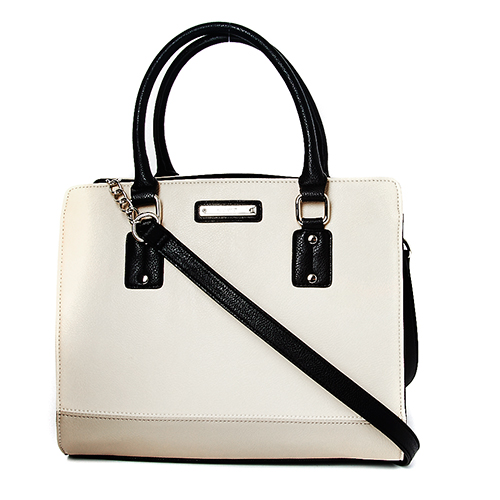 Túi NINE WEST YOU AND ME SATCHEL-WHITE/BLACK