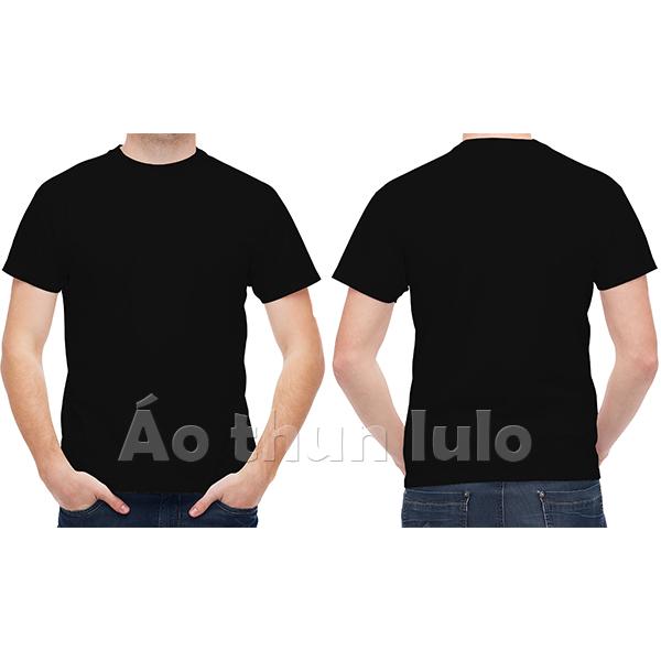 Áo thun cổ tròn - Màu đen