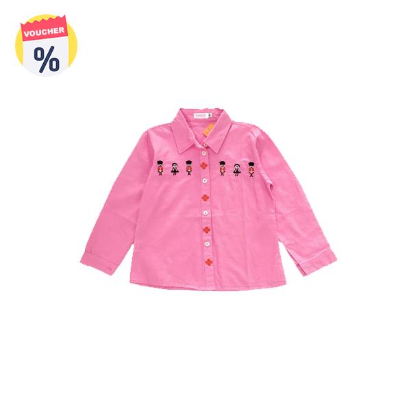 Mua ngay Voucher chỉ với 99.000 VND Mẹ sắm cho bé chiếc Áo sơ mi bé gái dài tay màu hồng (sz từ 6-9 tuổi) của Vinakids (Giá niêm yết: 165.000 VND)