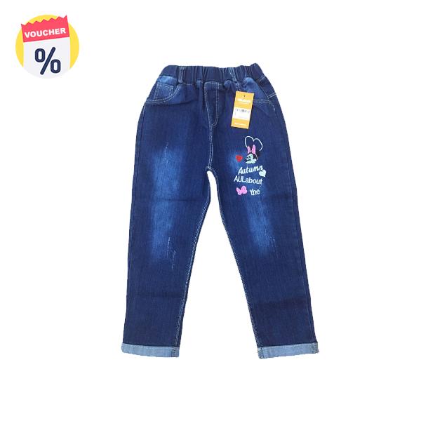 Mua ngay Voucher chỉ với 99.000 VND Mẹ sắm cho bé chiếc Quần jeans dài bé gái thêu mickey Autumn (sz từ 4 tuổi -6 tuổi) của Vinakids (Giá niêm yết: 149.000 VND)