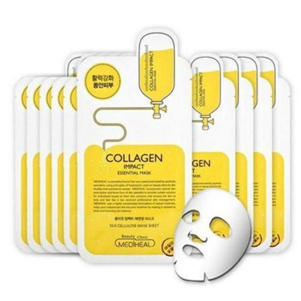 Bộ 10 Mặt Nạ Dưỡng Mediheal Collagen Impact Essential Mask Ex