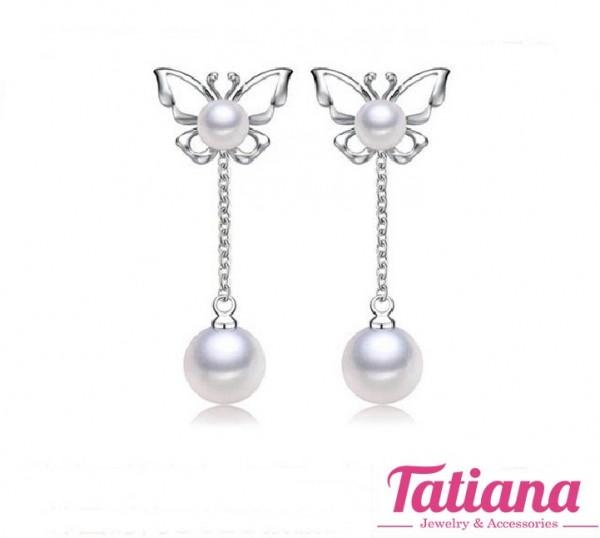 Bông Tai Butterfly With Pearl - Tatiana - B2849