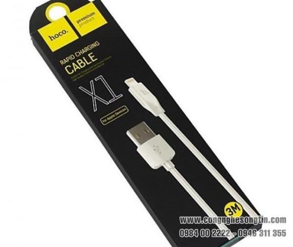 HOCO - Dây Cáp Sạc - X1 - Cổng Apple Lightning - 3M