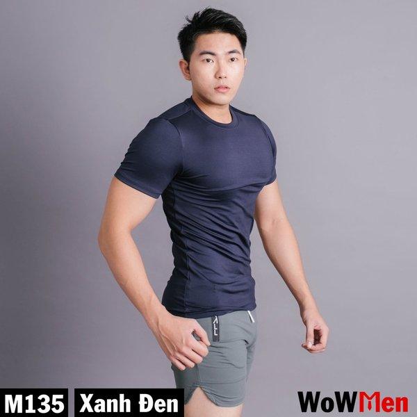 Áo Thun Nam Ngắn Tay Body Cotton 4 Chiều Tập Gym Thể Thao - M135