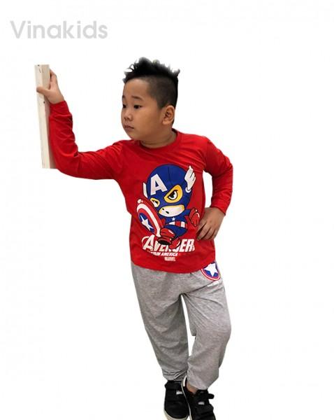 Đồ bộ bé trai siêu nhân Mavel đỏ (sz từ 8-12 tuổi)