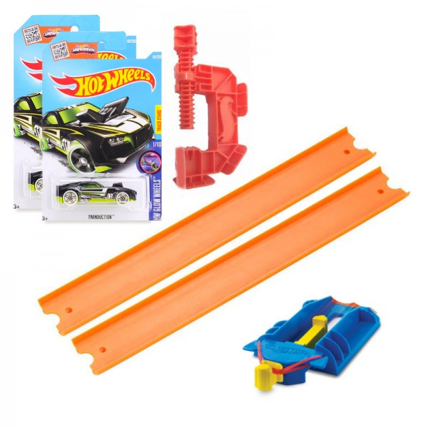 Bộ đường đua di động và xe Hot Wheel Buider Pack kết hợp xe giao ngẫu nhiên