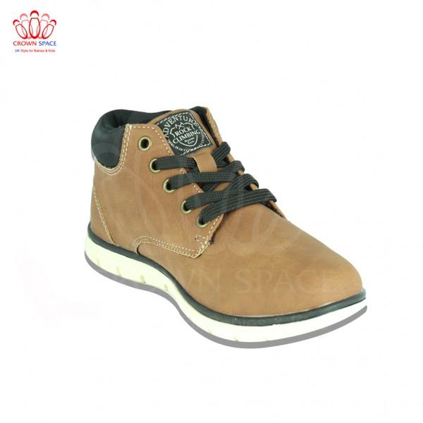 Giày cao cổ bé trai SPROX Lace Booties C293142 màu Nâu đậm