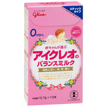 Sữa Glico dạng thanh Icreo số 0 cho bé từ 0 đến 12 tháng tuổi