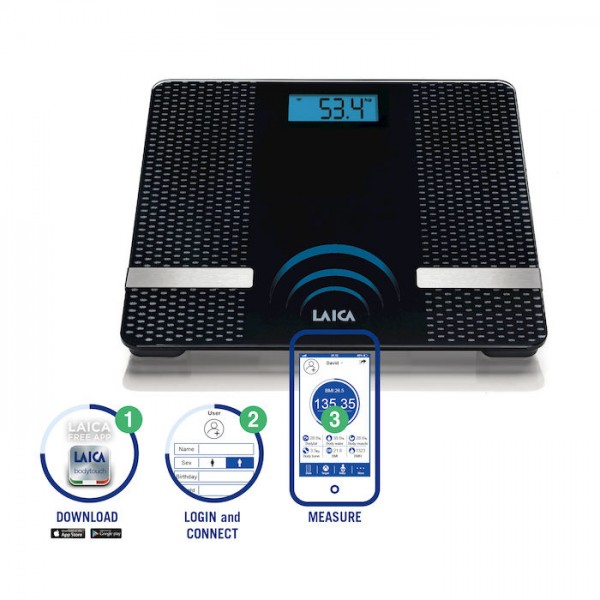 Cân BMI Bluetooth LAICA PS7002