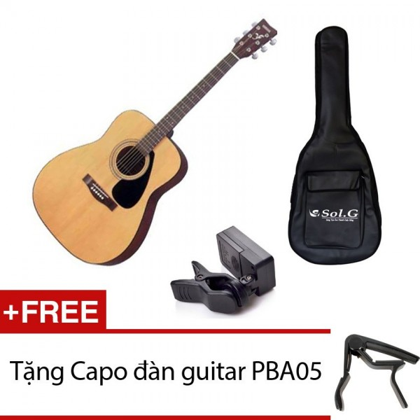 Combo đàn guitar acoustic Yamaha F310+bao+capo+máy lên dây