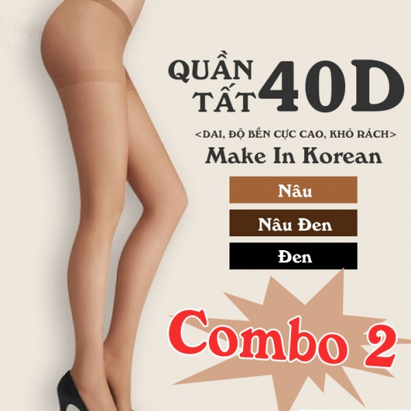 Combo 2 Quần Tất Teen Teen Panty Tights Hàn Quốc Cao Cấp 40D