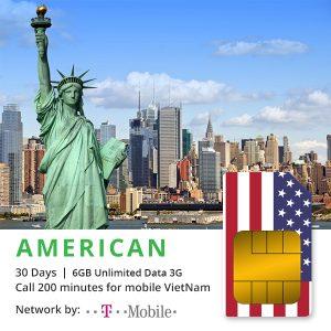 Sim 4G Mỹ nhận tại Việt Nam