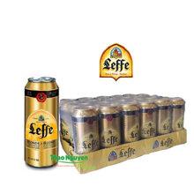 Bia Leffe vàng Lon 500ml Leffe Blonde | Thùng 24 Lon | 6,6% | Bia Bỉ Nhập Khẩu
