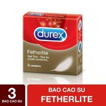 DUREX Bao Cao Su Durex Fetherlite 3 cái/Hộp