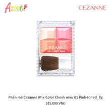 Phấn má Cezanne Mix Color Cheek màu 01 Pink-toned 8g_12634