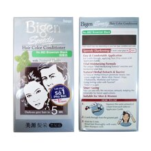 BIGEN Kem Nhuộm Tóc Phủ Bạc Bigen Speedy Hair Color Conditioner 40g+40g .# 882 Browish Black Nâu Đen
