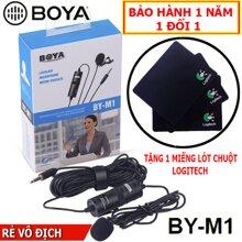 BOYA BY-M1 Mic thu âm cao cấp chuyên nghiệp cho Điện thoại, Máy tính, Máy quay phim, Tặng Kèm Lót Chuột