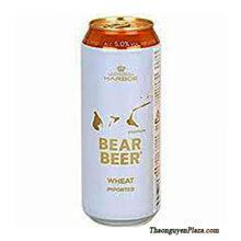 Bia gấu Đức Bear Beer Wheat imported lon trắng 500ml