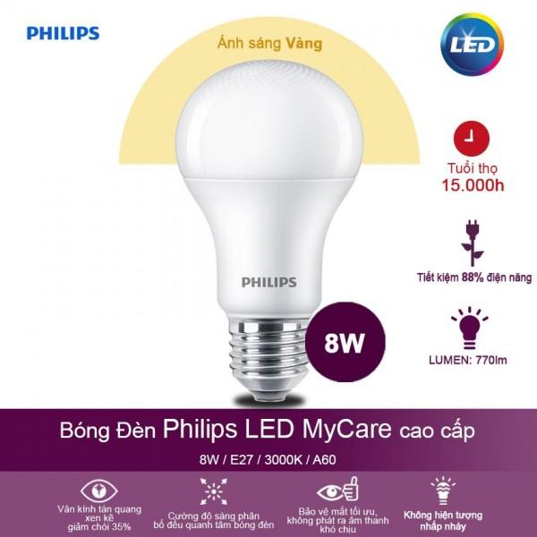 Bóng đèn Philips LED 8W Ánh sáng vàng
