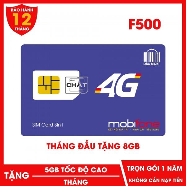 SIM 4G Mobifone F500 Tặng 5GB / Tháng Trọn Gói 1 Năm Không Cần Nạp Tiền