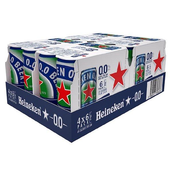 Thùng 24 Bia Heineken Không Cồn Sleek 330ml