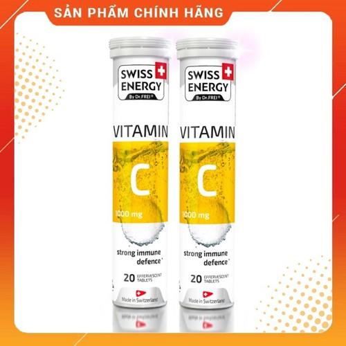 Combo 2 Tuýp] Viên Sủi Vitamin C 1000mg - Tăng Sức Đề Kháng và Làm Đẹp Da - Swiss Energy - VitaminC1000mg_2tuyp