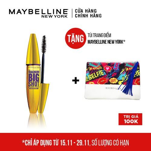 Mascara Dày Mi Cực Đại Maybelline New York Magnum Bigshot 9.2ml - TẶNG Túi du lịch cầm tay Maybelline - TUML00149CB