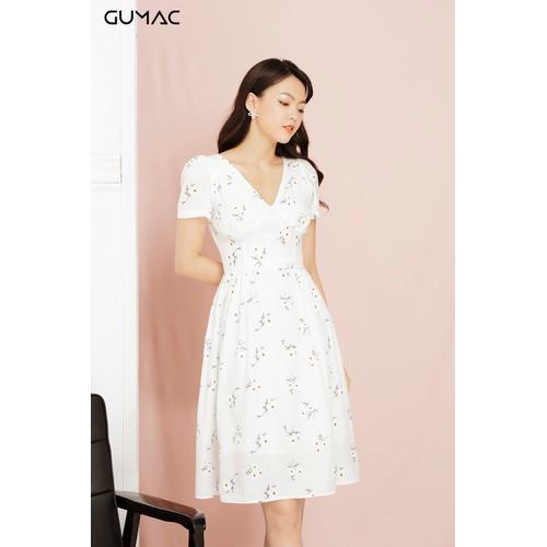 Đầm nữ xòe hoa cúc GUMAC MS11964_TRANG