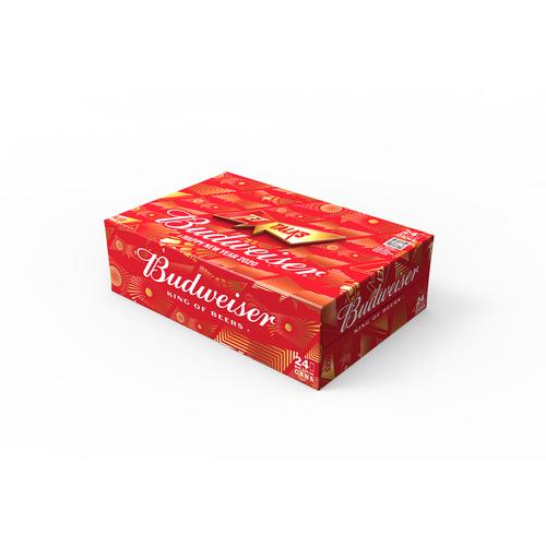 [HN] Budweiser lon 330ml - Thùng 24 lon phiên bản Tết