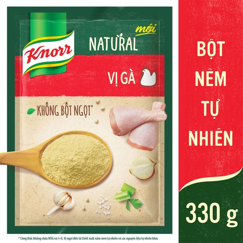 Bột Nêm Tự Nhiên Knorr Natural - Vị Gà 330g